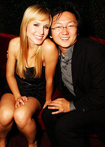 Kristen Bell and Masi Oka