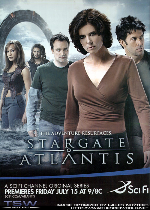 Stargate Atlantis season 2 promo poster from scifi channel